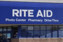 Union City - Circa April 2018: Rite Aid Drug Store and Pharmacy. In 2018, Rite Aid transferred 625 stores to WBA II stock image
