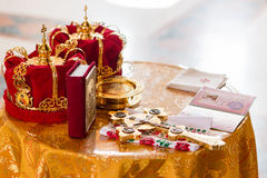 Rite of baptism Royalty Free Stock Photo