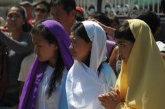 Rites Lenten de San Pedro Cutud Image stock