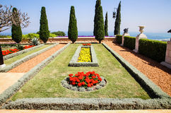 Rithmicity. The Bahá`í gardens, one of the very beautiful flower arangements Stock Images