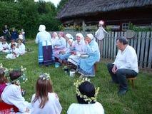 Riti della notte della st John, Lublino, Polonia Immagine Stock