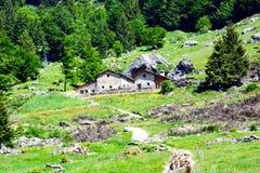 Ritirata della montagna in Italia immagine stock
