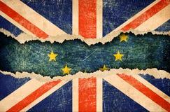 Ritiro della Gran Bretagna dall'illustrazione del brexit 3d dell'Unione Europea Immagine Stock Libera da Diritti