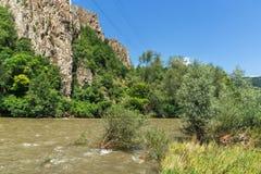 Ritlite - rock formations at Iskar River Gorge, Balkan Mountains, Bulgaria. View of Ritlite - rock formations at Iskar River Gorge, Balkan Mountains, Bulgaria stock photo