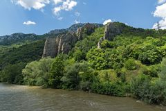 Ritlite - rock formations at Iskar River Gorge, Balkan Mountains, Bulgaria. View of Ritlite - rock formations at Iskar River Gorge, Balkan Mountains, Bulgaria royalty free stock photo