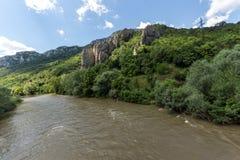 Ritlite - rock formations at Iskar River Gorge, Balkan Mountains, Bulgaria. View of Ritlite - rock formations at Iskar River Gorge, Balkan Mountains, Bulgarian stock images