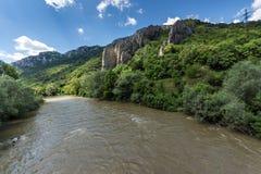 Ritlite - rock formations at Iskar River Gorge, Balkan Mountains, Bulgaria. View of Ritlite - rock formations at Iskar River Gorge, Balkan Mountains, Bulgarian stock image