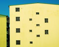 Ritme van vensters stock foto