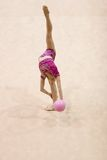Ritmische Gymnastiek Stock Afbeeldingen