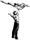 Ritmische Gymnastiek - gekleurd vectorial pictogram Royalty-vrije Stock Fotografie