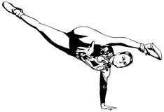 Ritmische Gymnastiek - gekleurd vectorial pictogram Royalty-vrije Stock Foto's