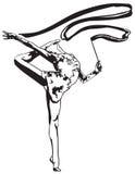 Ritmische Gymnastiek - gekleurd vectorial pictogram Stock Afbeelding