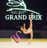Ritmische Gymnastiek Internationale Kop in Kyiv stock afbeelding