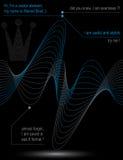 Ritmische stromende lijnen, chiffon dynamische achtergrond, samenvatting Stock Fotografie