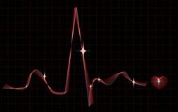 Ritmo cardiaco stilizzato Fotografie Stock