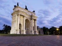 Ritmo de Arco Della, Milão, Italy. Imagem de Stock Royalty Free