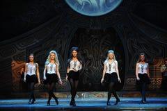 Ritmo do movimento---A dança de torneira nacional irlandesa da dança Fotografia de Stock Royalty Free