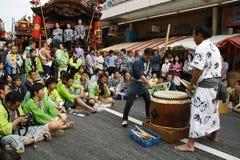 Ritmo japonés del tambor Foto de archivo