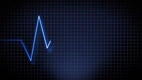 Ritmo médico de la frecuencia del ritmo cardíaco ilustración del vector