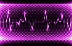 Ritmo normal da cavidade do coração humano colorido, registro do eletrocardiograma Projeto brilhante e corajoso Fotos de Stock
