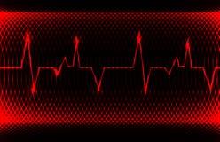 Ritmo normal da cavidade do coração humano colorido, registro do eletrocardiograma Projeto brilhante e corajoso Imagens de Stock