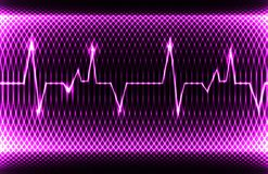 Ritmo sinusale normale del cuore umano variopinto, annotazione dell'elettrocardiogramma Progettazione luminosa ed audace Fotografie Stock