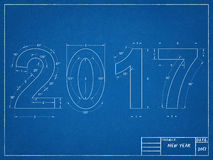 Ritning 2017 Arkivbild