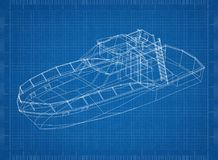 Ritning för yacht 3D royaltyfri illustrationer