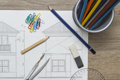 ritningar Arkivbilder