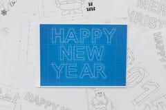 Ritningar för nytt år Fotografering för Bildbyråer