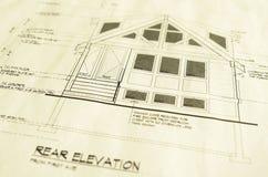 ritningar returnerar husplan Royaltyfri Fotografi