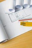 ritningar som engineering plan Arkivbilder
