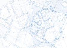 ritningen för arkitektur 3d framför white Fotografering för Bildbyråer