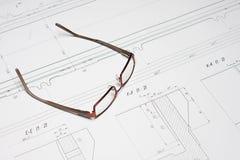 ritningexponeringsglas Arkivbild