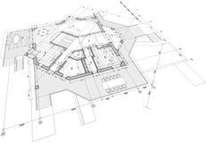 ritninghusplan royaltyfri illustrationer