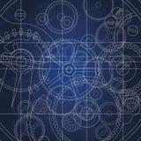 ritningkugghjul Royaltyfri Bild