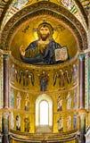 Rito bizantino do mosaico em Sicília Foto de Stock
