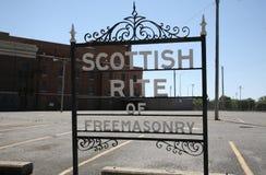 Rito escocés de la francmasonería Foto de archivo libre de regalías