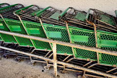 Ritorno del carrello di acquisto Fotografia Stock Libera da Diritti