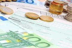 Ritorno di imposta delle entrate Immagine Stock