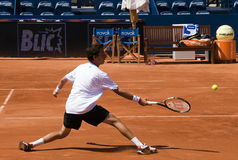 Ritorno di Milojevic del giocatore una sfera Fotografia Stock