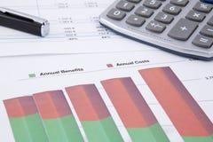 Ritorno su investimento Fotografie Stock