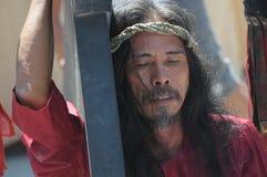 Ritos cuaresmales de San Pedro Cutud Imagen de archivo libre de regalías