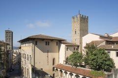 Ritraendo in prospettiva da sopra Arezzo Toscana Italia Europa Fotografia Stock