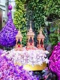 Ritragga in prospettiva il castello nel paradiso 2014 dell'orchidea di Bangkok del modello Immagini Stock Libere da Diritti