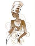 Ritratti africani della donna Fotografia Stock Libera da Diritti