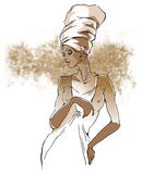Ritratti africani della donna Fotografia Stock