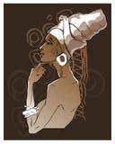 Ritratti africani della donna Immagini Stock