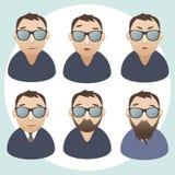Ritratti degli uomini. Caratteri isolati vettore Immagine Stock Libera da Diritti