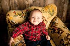 Ritratti del bambino da 6 mesi Immagine Stock